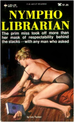 Nympho Librarian les tucker island of sin vintage sleaze cover