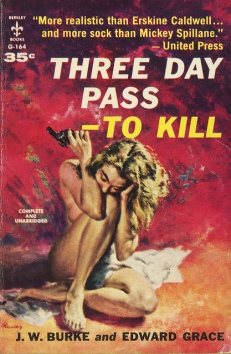 three day pass to kill j w burke edward grace vintage sleaze
