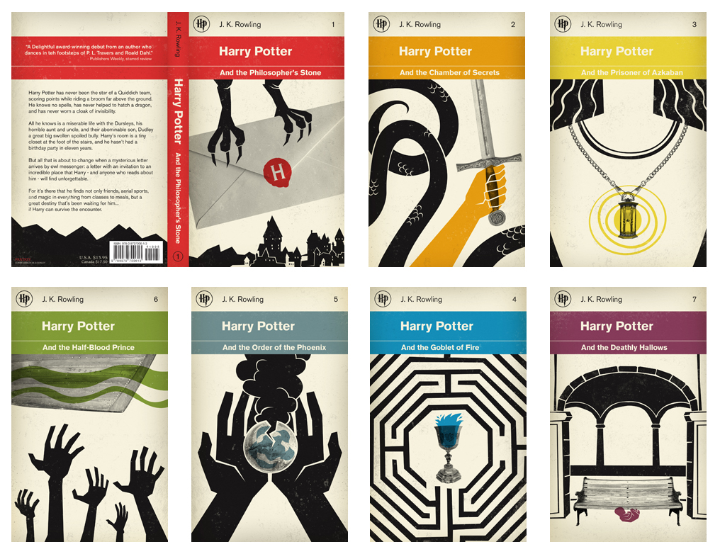 Classic Penguin Books Cover Design : Harry potter books in penguin classics style the book haven