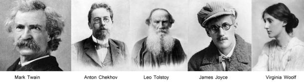 zola chekhov tolstoy joyce virginia woolf