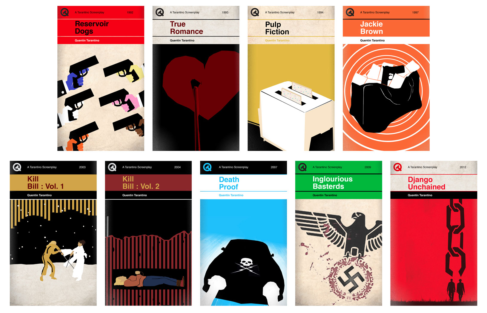 Penguin Book Covers Poster ~ Quentin tarantino movies as penguin classics the book haven